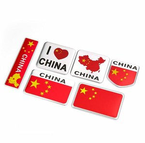 China-Karten-Flagge I Liebe-China-Flagge Aluminiumlegierung Aufkleber-Auto-Sport-Aufkleber Aufkleber Emblem Badge Auto-Styling fit für Mercedes