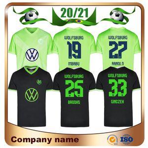 20/21 VfL Wolfsburg maillot de football 2020 Accueil GINCZEK STEFFEN football chemises loin MBABU BROOKS ARNOLD Weghorst uniforme de football