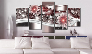 Canvas Painting Decor Wall Art Picture Poster For Living Room Unframed Flower Pattern Home Decoration Painting
