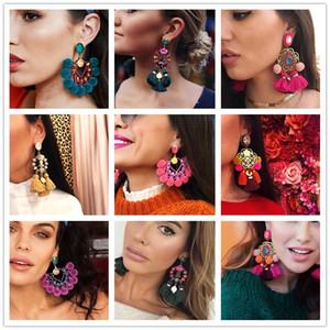 2019 caldo lungo nappa pendente Dichiarazione di nozze orecchini di Boho Shiny goccia ciondola gli orecchini per le donne fascino frange Bijoux