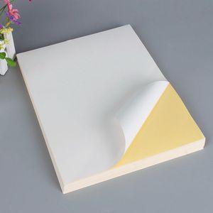 Neupreis Versandetiketten A4 Selbstklebendes Aufkleberpapier Mattweiß Leeres Aufkleberpapier Etikettendruckpapier 100 Blatt / Beutel