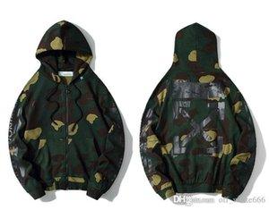 Mens designer fashion jackets OFW classic 99 camouflage graffiti hooded zipper sweater men and women same coat