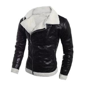 Retro vintage chaquetas de motocicleta PU cuero hombres slash cremallera moto chaquetas solapa ciclista jinete smoux cuero abrigo moto jaqueta tamaño s-2xl