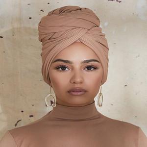 New alta qualidade Jersey Scarf muçulmana Lenço instantâneo Hijab cobertura completa Cap envoltório do lenço islâmico Xailes Mulheres Turban Chefe Lenços