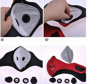 5pcs / lot PM2,5 Filtre à masque carbone pour vélo VTT Vélo de route Vélo Masques de visage Filtre à air Masque poussière pollution filtre