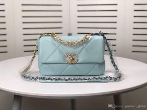 hot Women's Blue Leather Shoulder Bag Chain Messenger Fashion Square Bag Luxury Designer Women Mini Bags