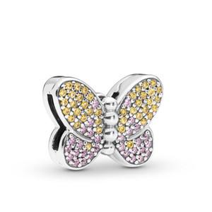 Authentische 925 Sterling Silber Perlen Rosa Kleid DIY-Charme passt europäischen Pandora Style Schmuck Armbänder Charms Schmuckherstellung CZ2020