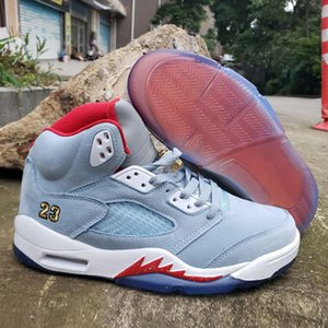 Trophy X Jumpman 5 Ice Blue University Red Kids Basketball Shoes Sneakers 5s Baskets Ball Chaussures De Shoes Mens Trainers