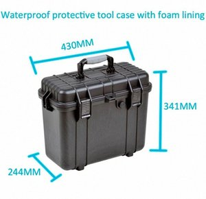 waterproof ABS Tool case toolbox suitcase Impact resistant sealed case equipment box camera Meter box with pre-cut foam vC8h#