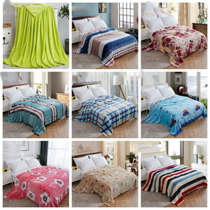 Fluffy en peluche Throw Blanket Couvertures en molleton climatisation Blanket mariage solide Couvre-lits Literie Fournitures 36 Couleurs LXL1139-1