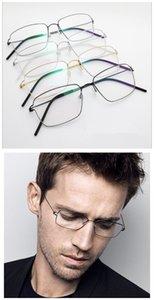 La qualité des verres de fil en alliage de titane à la main frame 54-18-145 entreprise mâle rectangulaire monture de lunettes de prescription de lumière bigface