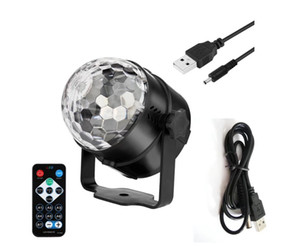 SXI 50pcs lot wholesale remote control 3W led stage light crystal magic ball light for party club room
