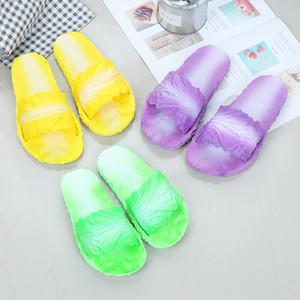 여름 숙녀 홈 샌들 단순성 여가 미끄럼 방지 만화 Bardian Slipper Anti Wear 중국어 양배추 독창성 신발 Hot Sale 12hnI1