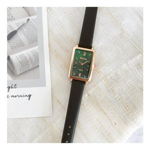 Nordic Light Luxury Minority Brand Rectangular Zheng Shuang Watch Womens Fashion Simple Temperament Atmosphere Retro Waterproof Womens Watch