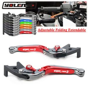 Accesorios de la motocicleta CNC Plegables Extensible freno palancas de embrague Para CBR 1100XX CBR1100XX CBR1100 XX 1997-2007 2006 2005