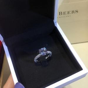 Cubic Zirconia Anel de Prata Feminino designer de jóias anéis de noivado feminino anel Roman jóias embutimento