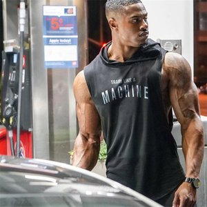 Muscleguys Brand Weightlifting Bodybuilding Stringer Hoodies Gyms sleeveless Hoodie Fitness Tank Top Mens Clothing Cotton T200527