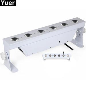 6Pcs / Lot 6x18W RGBAW UV 6IN1 pile Wall Washer luce DMX512 LED senza fili per il partito LED Bar Disco DJ organizza la luce di notte