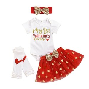 Baby Girl Clothes Short Sleeve Valentine's Day Baby Clothing Letter Infant Girl Clothing Skirt Newborn Clothes Set Ropa Niña #PY