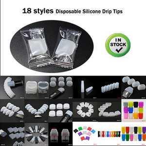 18 Styles Silicone Drip Tip Individual Packaging cover plastic Rubber Test Tips Tester For 510 810 ZERO Srorin MYLE Vgod NORD Uwell subtank