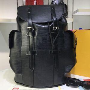 Sırt çantası Çantalar Cüzdanlar Deri Çanta Omuz Çantası Su Ripple Büyük Kapasiteli Gerçek Deri Okul Sırt Çantası Ücretsiz Kargo
