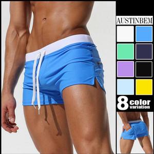 Men Swimming Trunks bolso traseiro de banho de praia do verão Swimwear homens Swimsuit Boy fatos de banho Boxer Shorts Swim Trunks Surf
