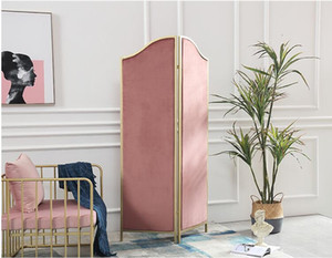 Folding screen household Ins pink net red screen living room partition folding mobile small flat modern simple