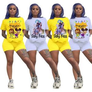 إمرأة مصمم رياضية قصيرة الأكمام ملابس قميص السراويل اثنين من قطعة مجموعة الملابس الرياضية نحيل قميص السراويل الرياضة دعوى الساخن بيع klw3722