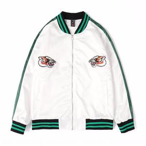 UerSe Ji Chao marca estilo chinês cabeça Tiger padrão de revestimento bordado Top bordados bordados casaco e homens casaco fino de moda homens de