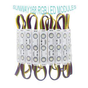 IP68 RGB LED Modules lumières DC12V 3 PCS SMD5050 Modules d'injection d'éclairage à LED étanche Pixel backlight pour Channer Lettre