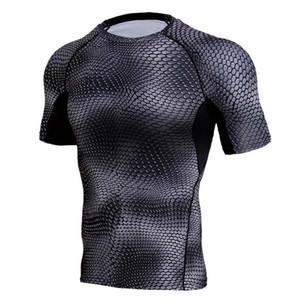 Camisetas para hombre del entrenamiento polainas aptitud de los deportes funcionamiento de la gimnasia yoga respirable atléticos camisas hombre camiseta Solid culturismo