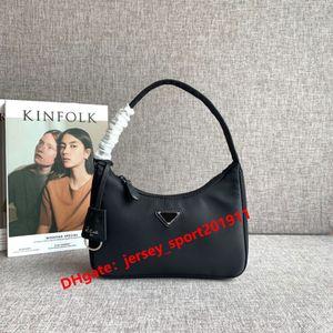 2020 New hot sell fashion woman bag designer genuine leather with waterproof nylon lady handbag HOBO woman bag