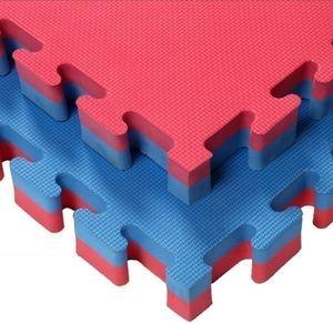 100% haute densité Taekwondo sol 4cm Tapis EVA épais Tatami judo karaté Rouge / Bleu le plus vendu