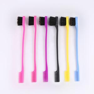 Schönheit Double Sided Edge Control-Haar-Kamm-Haar, das Werkzeug Haarbürste Zahnbürste Stil Augenbraue Pinsel