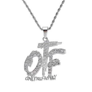 ghiacciato fuori solo la collana pendente famiglia per mens del progettista delle donne degli uomini di lusso bling lettera diamante ciondoli lettere collana d'oro regalo di amore