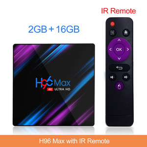 H96 Max Android 9.0 TV Box 2G16G RK3318 مزدوج WIFI Smart TV BOX 4k smart television