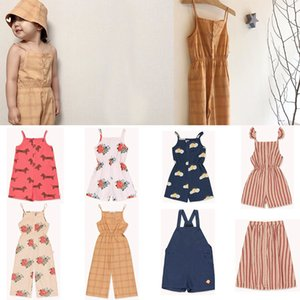 2020 New Arrivals TAO Children Girls Fashion Overalls Cute Summer Sling Overall Toddler Girl Summer Clothes Beautiful Hawaii Y200704