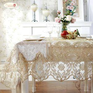 Orgullosa rosa de lujo europeo paño de tabla del hilado del cordón cubierta de tabla del té toalla del sofá decoración del hogar TV gabinete mantel rectangular T8190620