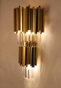 Crystal Island Cabinet Lighting Jantar Golden Room Chandelier Modern Lamp cadeia de cristal Chandelier