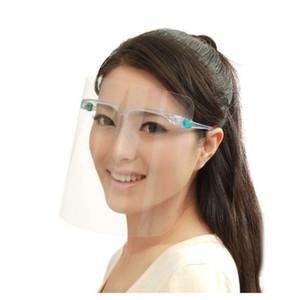 Fabbrica libera di trasporto fornitura diretta di alta qualità 2 in 1 occhiali di protezione e speciale starnuto prova di maschera trasparente, anti-fog maschera la faccia