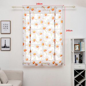 140 * 140 cm tende soggiorno tulle fiore moderno stampato tenda corta strisciante tende fine fine finestra tenda drappo drappo valance DBC DH0899-8