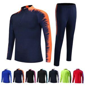 2019-2020 Kinder Erwachsene Fußball-Trikots-Sets survêtement Football Kits Männer Kinderlaufjacken Sporttraining Anzug Uniformen Anzug
