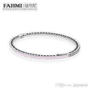 YHAMNI 100% de plata esterlina 925 1: 1 pulsera básico original auténtico encanto 590537EN68 adecuados joyería de bricolaje con cuentas Mujeres