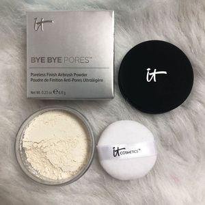 Se Cosméticos adiós poros Polvos Mate Acabado maquillaje de la cara aclaran control aceites de larga duración en polvo invisible poros maquillaje en polvo
