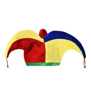 Halloween Masquerade Decoration Cosplay Clown Hat Red Clown Nose Clown Hat for Adult Child With Carnival Funny Party Cost Y10.14