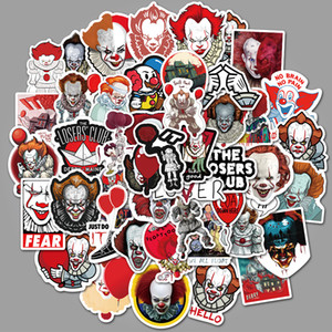 50PCS Mixed Car Stickers It Chapter 2 For Skateboard Laptop Fridge Helmet Stickers Pad Bicycle Bike Motorcycle PS4 Notebook Guitar Pvc Decal