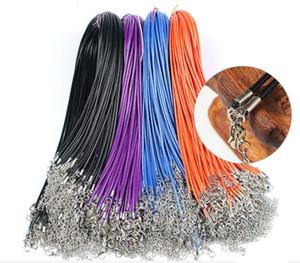 Wachs-Leder-Schlange-Halskette Durchmesser 1,5 mm Länge 45CM-Schnur-Schnur-Seil-Draht-Extender Kette mit Hummer-Haken-DIY Art und Weise Schmucksache-Zusatz