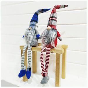 4 Styles Buffalo Plaid Christmas Dolls Figurines Handmade Christmas Gnome Faceless Plush Nomes for Ornaments Gifts Kids Xmas Decoration