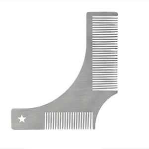 Populärer Qualitäts-Frisierkamm silbrig klassischer glatter Metall Bart Pflege Doppelkamm Schnurrbart Schönheit Comb