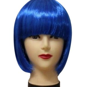 New 13 Colors Women Short BOB Hair Wig Straight Bangs Cosplay Party Stage Show